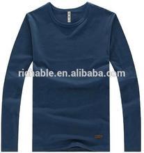 2014 wholesale o- neck long sleeve t shirt mens plain black t shirts wholesale