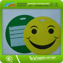 customized round luggage card pvc plastic cards