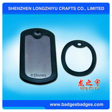 Round Dog Pet tags with Dog Tag Silencers
