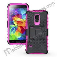2 in 1 Detachable Hard PC+Soft TPU Hybrid Case for Samsung S5 Mini SM-G800 with Kickstand, for Samsung S5 Mini Hybrid Cover