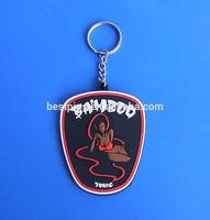 3D rubber bambdd tonic sexy key chain, bar lady key ring