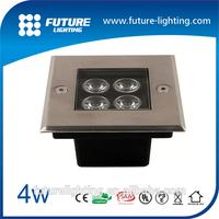 5years warranty CE ROSH 4W high power ip67 outdoor sidewalk square underground led light
