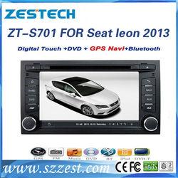 ZESTECH 2 Din Car head unit for Seat Leon 2013 car sat nav car cd dvd player with gps navigation
