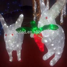 best seller new year fine gift led decorative rabbit