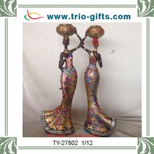 Hand painted home decorative resin