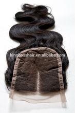Wholesale Huge stock virgin brazilian hair lace closure body wave 3.5X4,4X4inch,5X5inch top closure