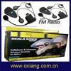 2KM intercom bike /motorcycle helmet interphone headset with fm radio