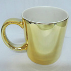Promotional golden electroplated ceramic mug for cheap price