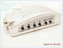 argenteous plastic vga to av converter;vga to tv av converter box;vga to av s-video tv converter switch box