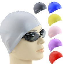 The Premium Silicone Swimming Caps For Long Hair With Beautiful Design Highly Elastic & Large Stretch