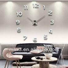 2014 newest fashion arab numeral watch sticker wall clock for home decor