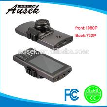 2014 best seller 1080p hd dual lens hd car dvr recorder AK-Q1with gps