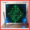 HOT WLK-1P9 Black fireproof Velvet cloth RGB 3 in 1 leds vision backdrop curtain flexible led video curtain led