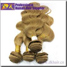 Hot Selling Full Cuticle Malaysian Virgin Human Hair Weave Dark Blond Human Hair