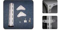 slotted angle rack/angle iron bracket/angle metal rack