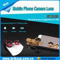 Obiettivo della fotocamera del telefono mobile/obiettivo zoom per il telefono/telefono lente 3 in 1 di larghezza- angolo, fisheye e obiettivo macro