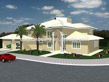 low cost prefab houses steel frame prefaricated villas homes