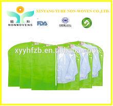 PEVA garment bag with clear window