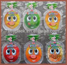 different shape of fruit plastic pack bag
