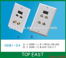 HDMI F RCA RJ11 RJ15 faceplate HDMI Module Faceplate