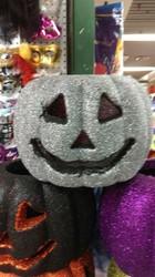 Hot sale new design white foam craft pumpkins with LED light