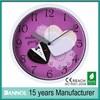 2014 Dannol pretty Dial design plastic wall clock to supply