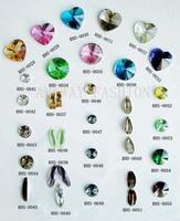 Unique shape Glass Crystal Rivoli Rhinestone Crystal silver foil backing