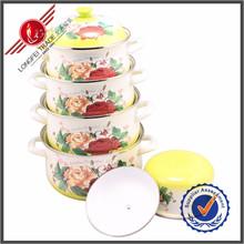 Kitchen Accessory 5 Pieces Wholesale Pot Enamelware