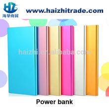 super slim Metal power bank 6000mah dual usb backup battery charger
