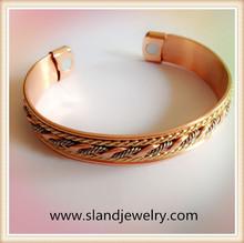 Hot sale high quality new design copper anti-static magnetic bracelet