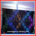 HOT WLK-1P18 Black fireproof Velvet cloth RGB 3 in 1 led curtain backdrop wall screen led light