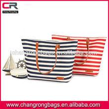 red white blue stripe bag, red white stripe canvas beach tote bag, blue white stripe canvas handbag wholesale