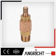 brass Sintered Threaded Pneumatic Exhaust Muffler