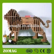 Lion Models Design Assembly Wooden Bookcases