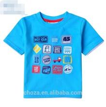 C11673C Summer Short Sleeve Cartoon Lovely 100% Cotton Baby T-shirt