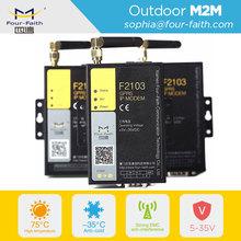 F2114 industrial gprs gsm rs232/rs485 5IOs powerline communication plc modbus modem rs485