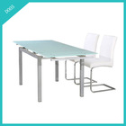 cheap metal folding glass dining table set