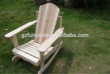 outdoor garden wooden swing chair no painted