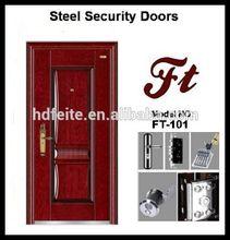 Porta alisador de aço de segurança de metal porta portas