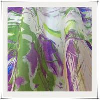 organza style 100% silk fabric digital printing for fashion garment