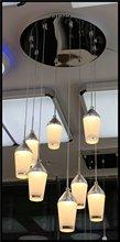 2014 new new style SMD5730 5W*8 4000lm AC85-265V modern black glass chandelier
