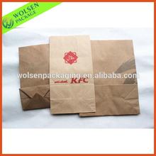 Recycle brown kraft paper food bag