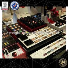 makeup mac cosmetic display stand/nail polish floor display for perfume in hong kong