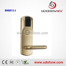 Types door lock 2014 strong stability Mechnical key + smart card hotel room locks(DH8015)