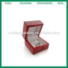 "QUALITY BIRCH Wood RING Box Gift JEWELRY 2""x2"" Hinge WEDDING ENGAGEMENT"
