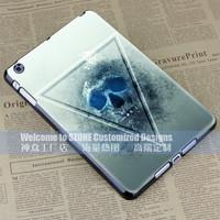 white black triangle skull colourful hard case cover for apple ipad mini