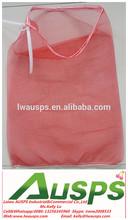 knitted plastic drawstring mesh bag