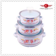 Hot sale european enamel coated cast iron cookware/glass lid cookware 2014