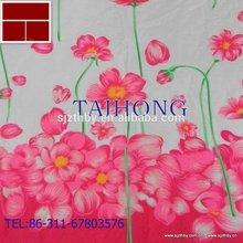 Hot venda de algodão de impressão flores de tecido para vestidos
