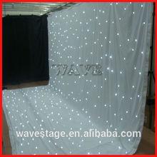 HOT WLK-2W White fireproof Velvet cloth White leds backdrop design of stage backdrops curtains